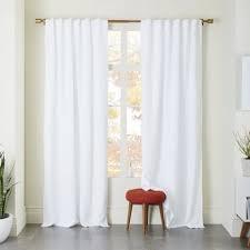 Black Linen Curtains Belgian Flax Linen Curtain White West Elm Throughout