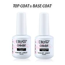 amazon com elite99 nail polish soak off top u0026 base coat
