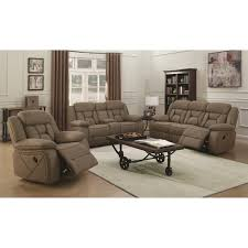casual pillow padded reclining sofa with contrast stitching by
