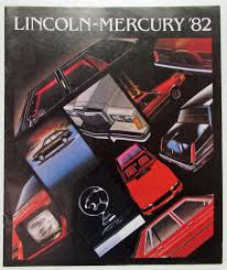 lincoln mercury full line sales brochure ln7 cougar continental
