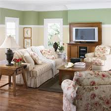 interior vintage style family living room image featuring wooden