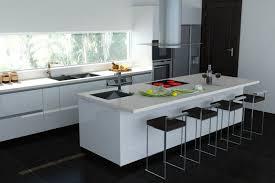 ilot cuisine blanc ilot central blanc laqué cuisine en image