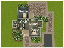 Starter House Plans Sims Starter House Plans Floor Plan Exterior House Plans 33468