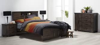 langkawi dark wood grain bedroom furniture suite with grey black