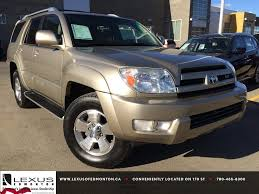 lexus coupe 2004 pre owned gold 2004 toyota 4runner limited v8 4wd review nisku
