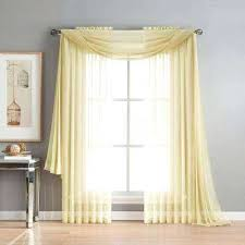 Yellow Window Curtains Window Treatments With Scarves Swag Window Treatment Scarf Swag