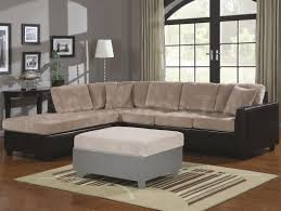 Laminate Flooring Black And White Grey Sofa With Cushions Also Dark Bench Leather Table On Wooden