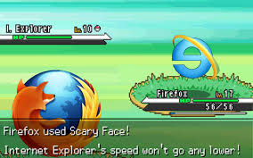 Internet Explorer Memes - firefox vs internet explorer in pokemon battle