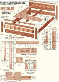 Full Size Platform Bed Plans Free by Bed Frame Woodworking Plans For Full Size Bed Frame Popular