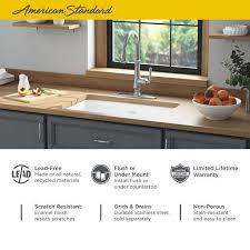 bowl kitchen sink for 30 inch cabinet delancey 30x19 inch cast iron kitchen sink american standard