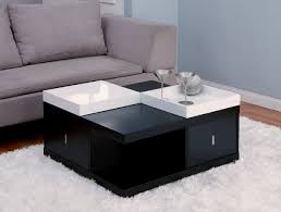 Trays For Coffee Table by Furniture Black Wooden Coffee Table With Shelf And White Serving