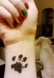 boxer dog feet pawprint tattoo ideas cat paw print tattoos designs ink