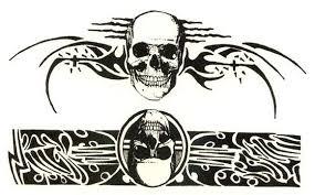 skulls tribal bands tattooforaweek temporary tattoos largest