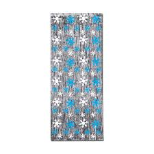 snowflake 1 ply fr gleam n curtain silver w prtd