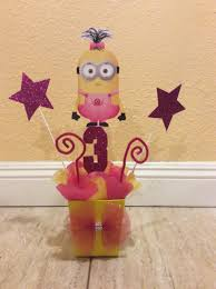 minion birthday party centerpiece by fantastikcreations