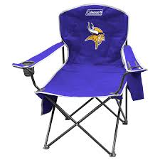 shop coleman nfl minnesota vikings steel chair at lowes com