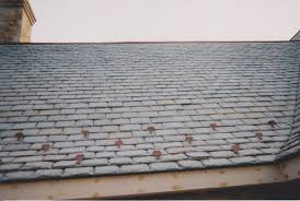 slate roof snow guards example of snow guard installation roofing