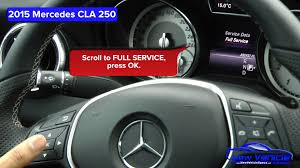 2015 mercedes cla 250 oil light reset service light reset youtube