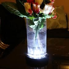 Led Vase Base Light 18cm Led Round Light Base For Vase Table Decoration Black