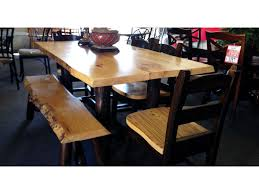 Rustic Wood Dining Room Table Rustic Wood Dining Room Table W Chairs Custom Furniture
