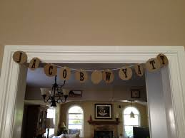 diy baby shower banners and succulents finca cielo azul