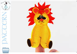 lion puppet lion finger puppet pattern instant lion puppet