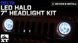 jeep headlights halo jeep wrangler delta led halo 7