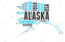 Alaska Map Usa by Alaska Usa State Map Tag Cloud Illustration Stock Photo Picture