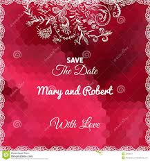 Red Invitation Cards Wedding Invitation Card Royalty Free Stock Photography Image