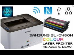 wireless samsung c430w colour laser printer unboxing full setup