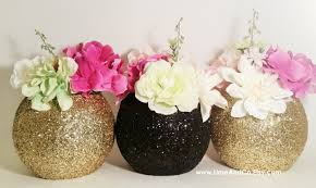 black and gold centerpieces wedding decor wedding centerpieces black and gold decor