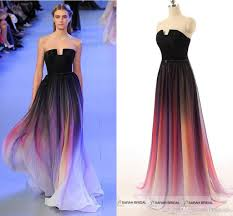 elie saab 2015 in stock long party dresses gradient color