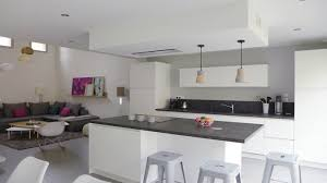deco design cuisine cuisine ouverte deco en image sejour avec newsindo co
