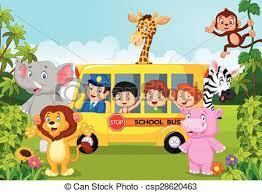 safari cartoon vector illustration of cartoon children on safari clip art