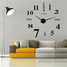 Grande Horloge Murale Design Pas Cher 12 Avec Diy 3d Horloge Murale Design Géante Grande Taille Moderne Ronde Avec