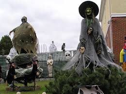 halloween outdoor decoration spooky halloween festival from a superstitions become a