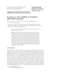 a survey on the stability of fractional differential equations