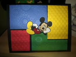 123 best mickey mouse card scrapbook pages images on pinterest