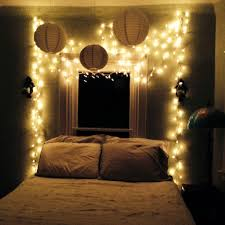 my bedroom oasis twinkle lights white and stripes dormitorio