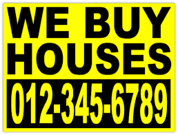 investor we buy houses bandit sign yard signs