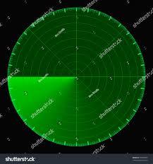 green radar screen circular 360 degree stock vector 775856869