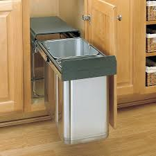 simplehuman in cabinet trash can pull out garbage bin ikea simplehuman pull out trash can replacement