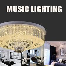 Wohnzimmerlampe Kristall Hghomeart Modische Deckenleuchte Led Bluetooth Kristall Musik