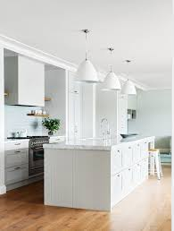 kitchen three matt white gubi u0027bl9 bestlite u0027 pendant lights over