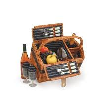 buy 2 person hand woven honey willow floral picnic basket set with