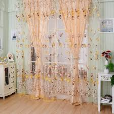 Picture Window Drapes Floral Tulle Voile Door Window Curtain Drape Panel Sheer Scarf