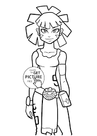 Maya From Redakai Anime Coloring Pages For Kids Printable Free