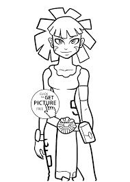 maya redakai anime coloring pages kids printable free