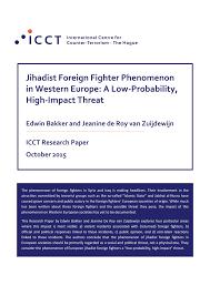 montauban si e perc jihadist foreign fighter phenomenon in pdf available