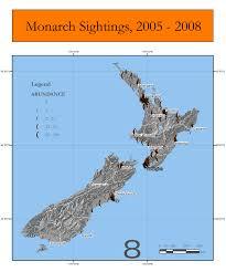 Monarch Migration Map Tagging Update 2008 9 U2013 Monarch Butterfly New Zealand Trust
